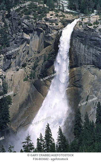 Nevada Falls on the Merced River, from Washburn Point, Yosemite National Park, CALIFORNIA