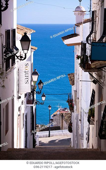 Altea street, ALicante, Spain
