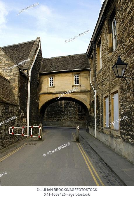 The bridge in New College Lane Oxford