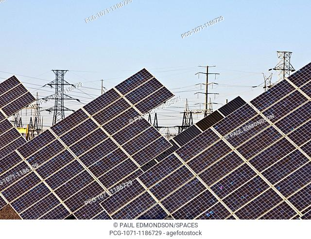 Solar Panels and Power Lines