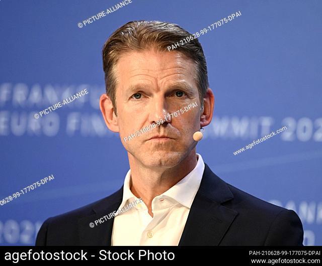 "28 June 2021, Hessen, Frankfurt/Main: Daniel Holz, Vice President EMEA North, Google Cloud, attends the financial conference """"Frankfurt Euro Finance Summit..."