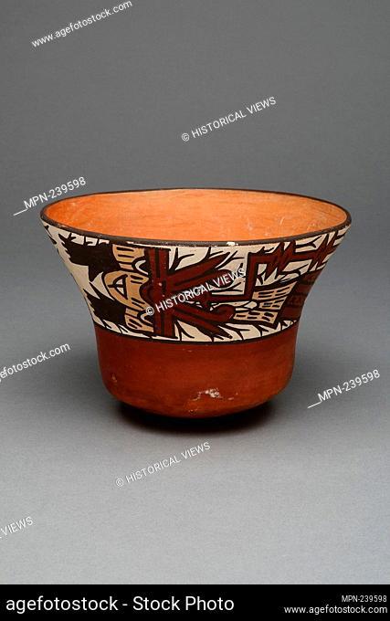Cup Depicting a Decapitated Head - 180 B.C./A.D. 500 - Nazca South coast, Peru - Artist: Nazca, Origin: Nazca Valley, Date: 180 BC–500 AD
