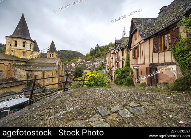 Conques is a former commune in the Aveyron department in Southern France, in the Occitanie region on September 25, 2020, the village is one of the prettiest...
