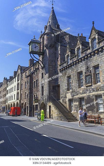 Canongate Tolbooth (1561), Royal Mile, Edinburgh, Scotland, UK