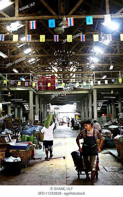 A vegetable market in Bangkok