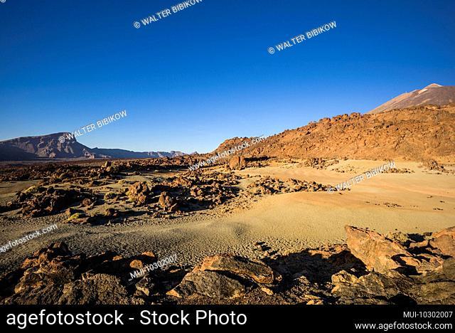 Spain, Canary Islands, Tenerife Island, El Teide Mountain, mountain desert landscape