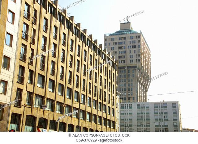 Italy. Lombardy. Milan. Torre Velasca