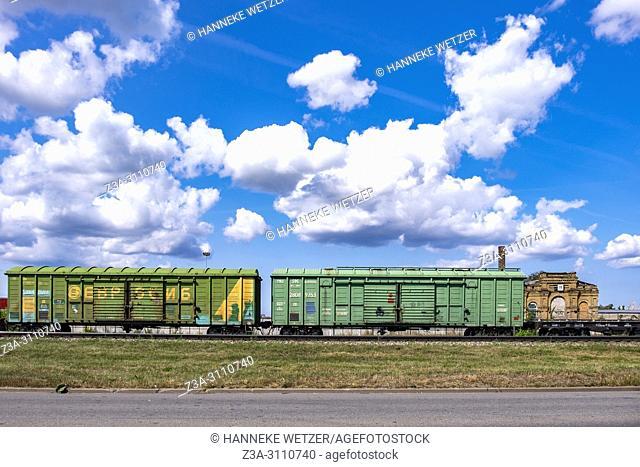 Freight train in Riga, Latvia, Europe