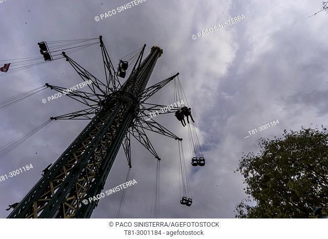 fair attraction in the Prater park, Vienna, Austria