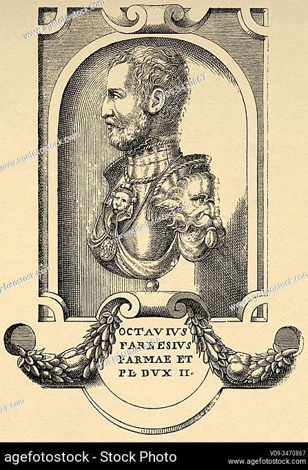 Portrait of Ottavio Farnese (Valentano, October 9, 1524 - September 18, 1586) was the second Duke of Parma and Plasencia