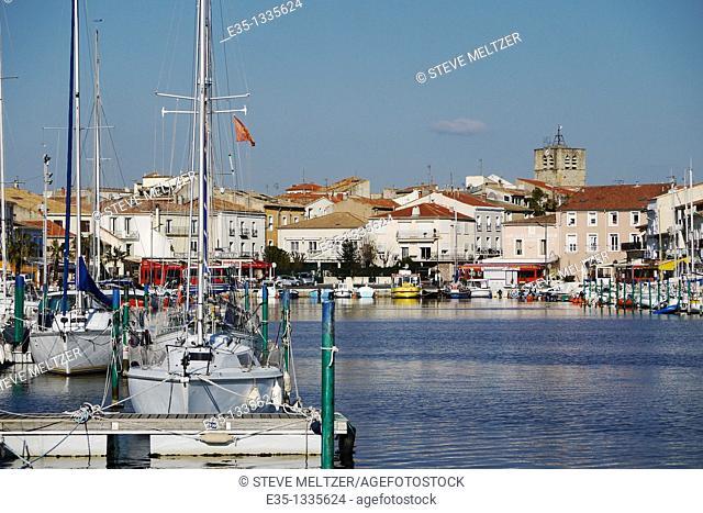 The port of Meze, France