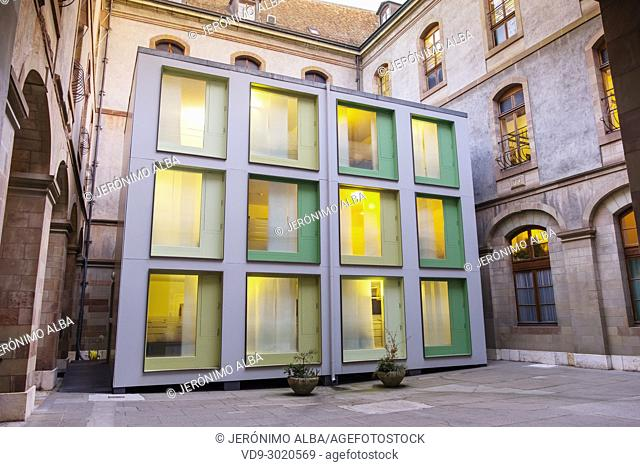 Modern office building in the town hall. Old town, historic center. Geneva. Switzerland, Europe