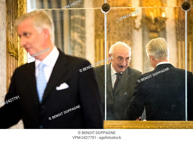 de Montpellier d'Annevoie and King Philippe - Filip of Belgium pictured during a royal reception for people who have been bestowed with the grace of nobility