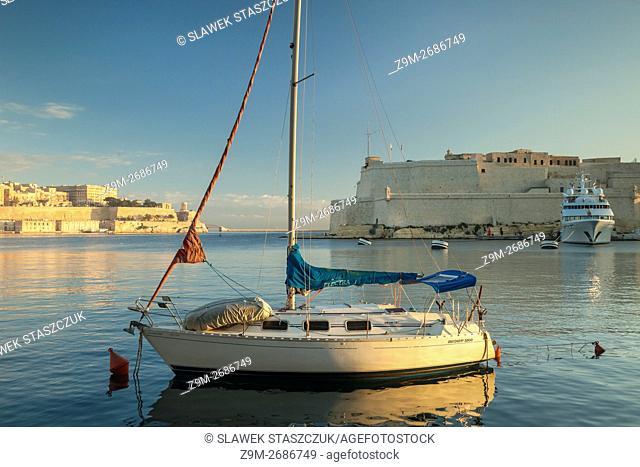 Early morning at Vittoriosa Yacht Marina on Malta