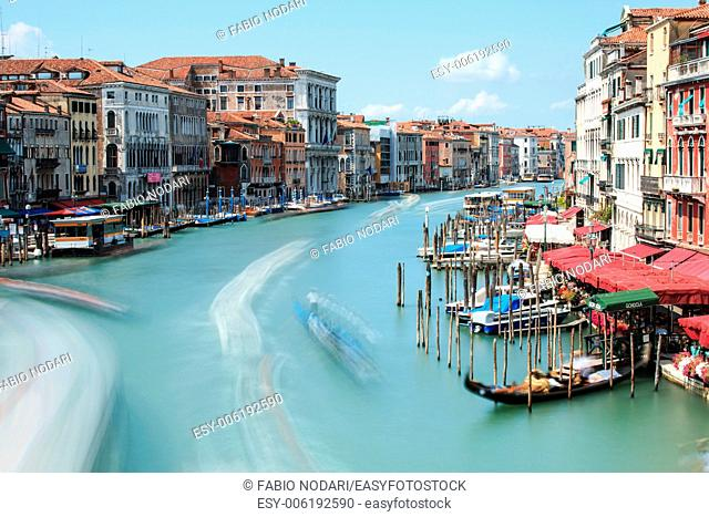 Long exposure of Grand Canal in Venice, Italy