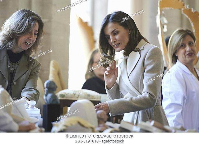 Queen Letizia of Spain attends the commemorating the 40th anniversary of the previous National Employment Institute, current Public Employment Service State at...
