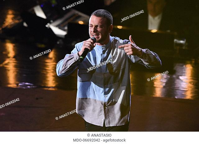 Anastasio at the fourth evening of the 69th Sanremo Music Festival. Sanremo (Italy), February 8th, 2019
