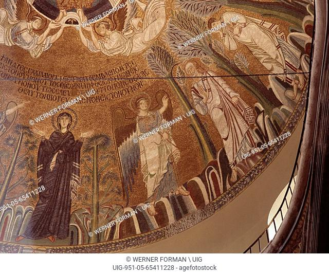 Detail of mosaic in the dome of the church of St