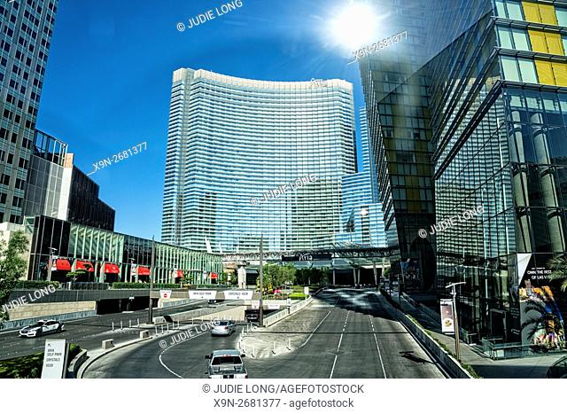 Main Entrance to the City Center Complex, Las Vegas, NV, on a Bright, Sunny Day