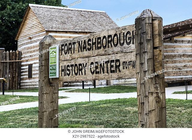 Fort Nashborough, Nashville, Tennessee, USA