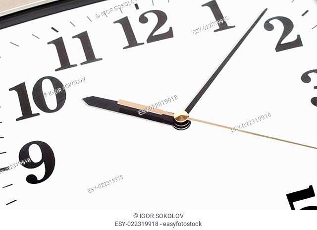 Office clock a close up