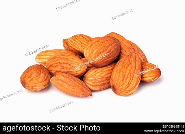 almonds nuts isolated on a white background