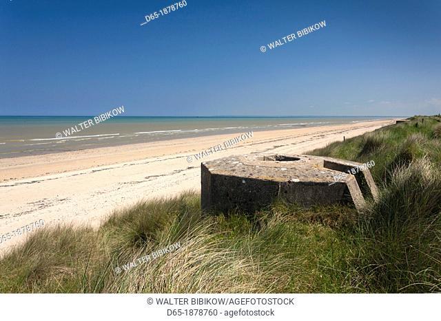 France, Normandy Region, Manche Department, D-Day Beaches Area, WW2-era D-Day invasion Utah Beach, Sainte Marie du Mont, ruins of German bunkers