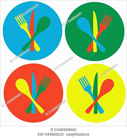Cutlery Designed for Icon or Logo. Vector graphic