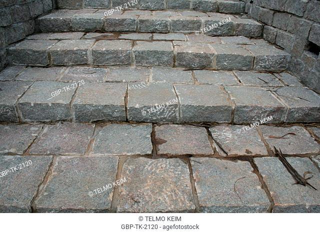 stone stair, Agua Branca Park, São Paulo, Brazil