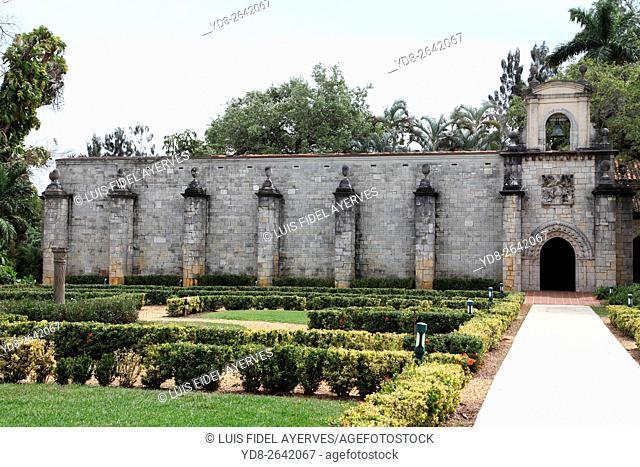 The panoramic view Spanish Monastery in Miami, Florida, USA