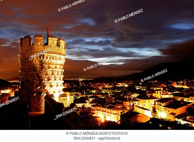 Nightfall in the castle of Manzanares el Real, Madrid, Spain