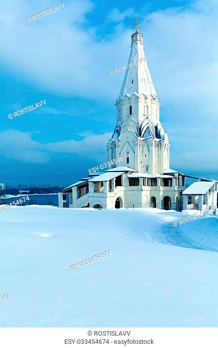 Church of the Ascension in Kolomenskoye at Winter, Moscow