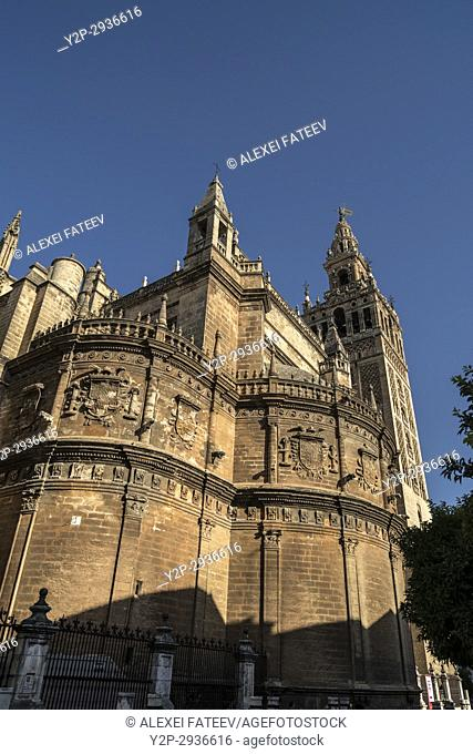 East facade of Cathedral of Seville, Spain
