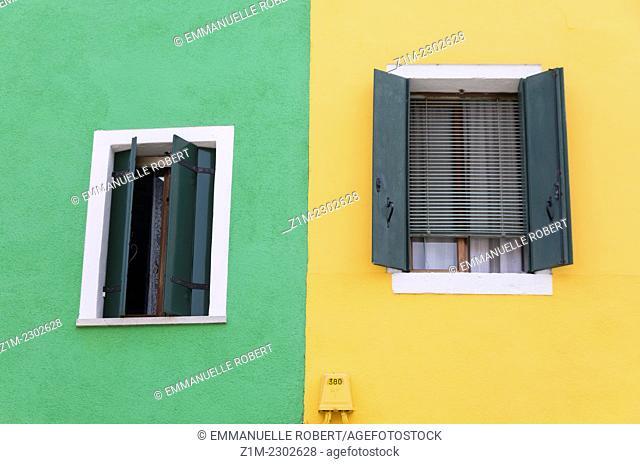Italy, Burano Island, colored house