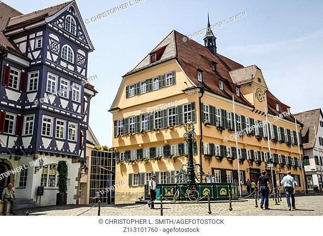 The Rathaus building on Marktstrasse in Nurtingen, Southern Germany
