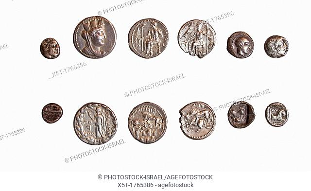 set of 6 coins from Phoenicia Tarsos and Philistia