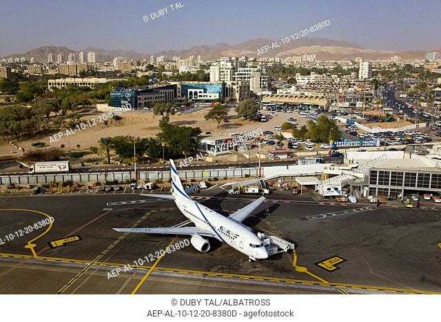 An aerial photo of Eilat Airport