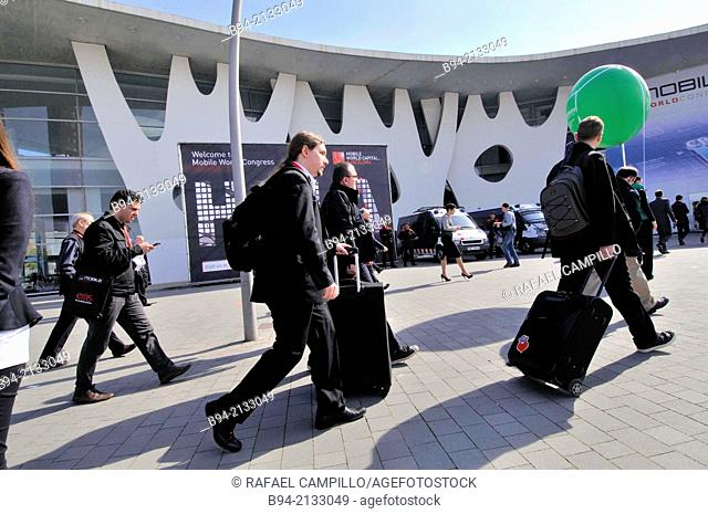 Fira de Barcelona. Gran Via venue, Av. Joan Carles I, 64. Hospitalet de Llobregat. Architect: Toyo Ito. Mobile World Congress. Barcelona. Catalonia