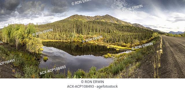 Wetlands in Tombstone Territorial Park, Yukon, Canada (digitally spliced panorama)