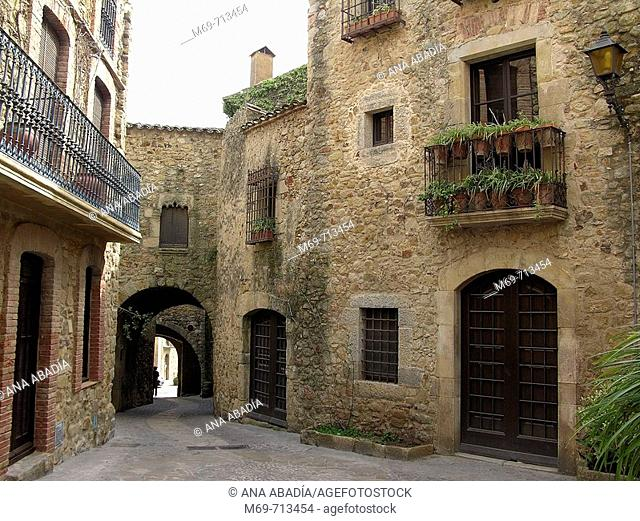 Pals medieval village. Girona province, Spain