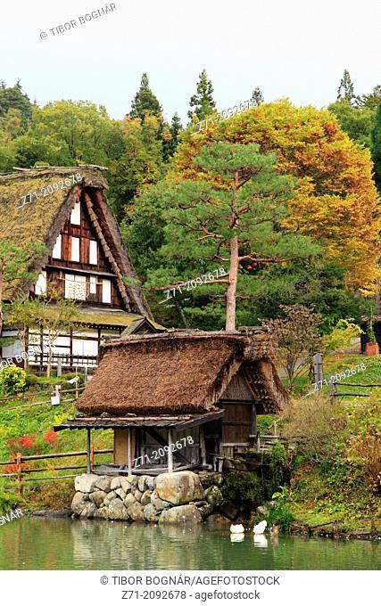 Japan, Hida, Takayama, Hida no Sato, old farmhouses,