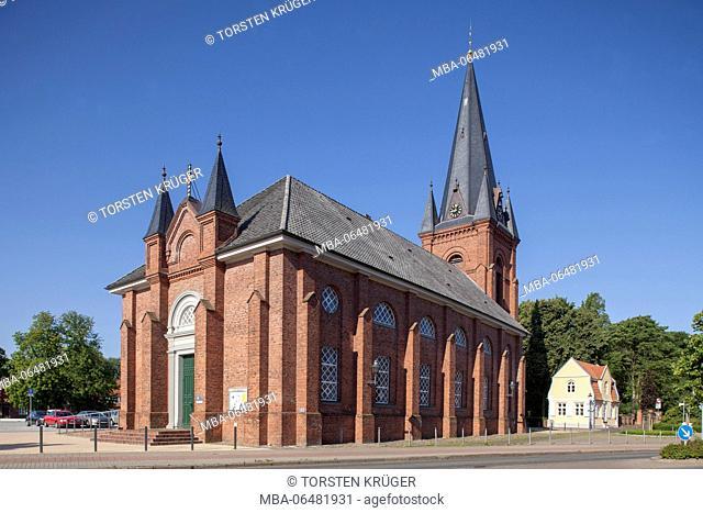 Saint Martin's church, Ritzebütteler marketplace, North Sea spa Cuxhaven, Lower Saxony, Germany, Europe