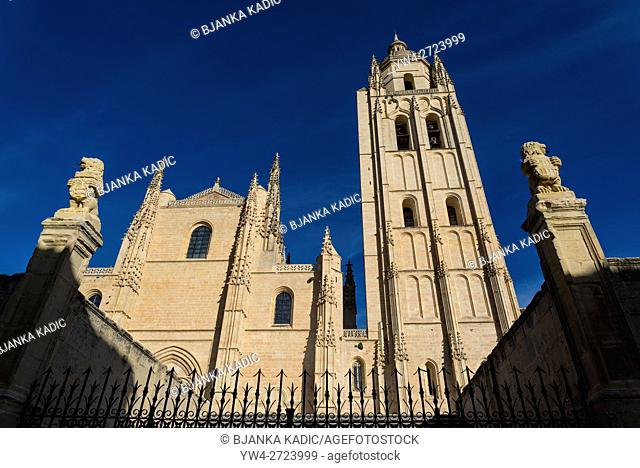 Segovia Cathedral, Segovia, Castilla y Leon, Spain