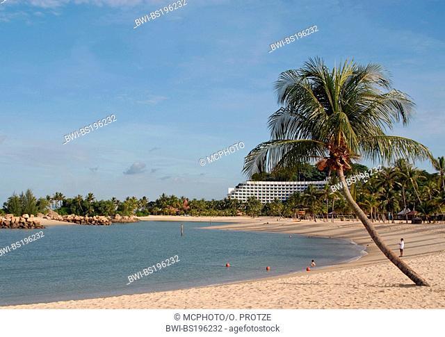 Siloso Beach at Sentosa Island, Singapore