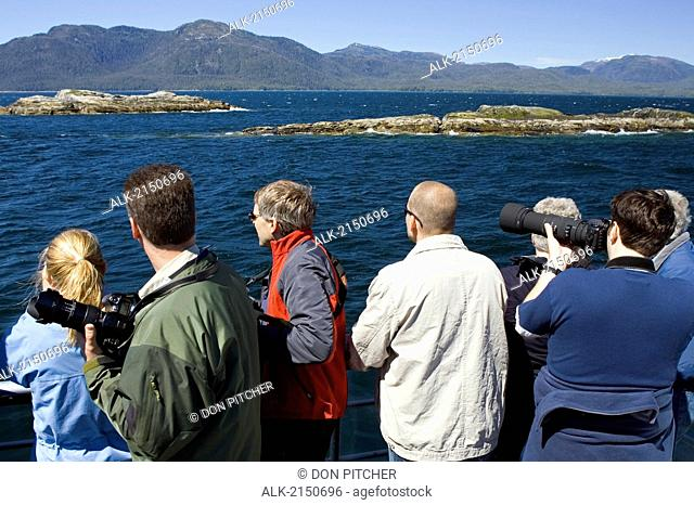 Visitors Photograph Wildlife From Tourboat Majestic Fjord Behm Canal Misty Fjords Nat Monument