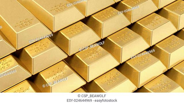 Solid Gold Bar Stock Photos And Images