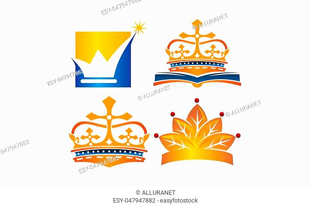 Crown Icon Template Set