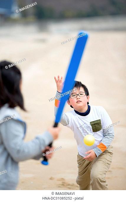 Practicing Baseball