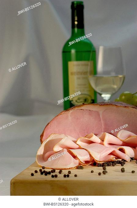 meat ham peppercorns white wine