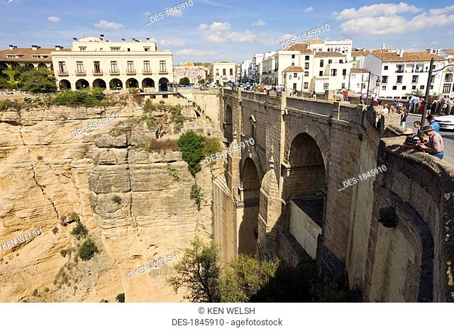 Puente Nuevo and Tajo gorge, Ronda, Malaga Province, Spain